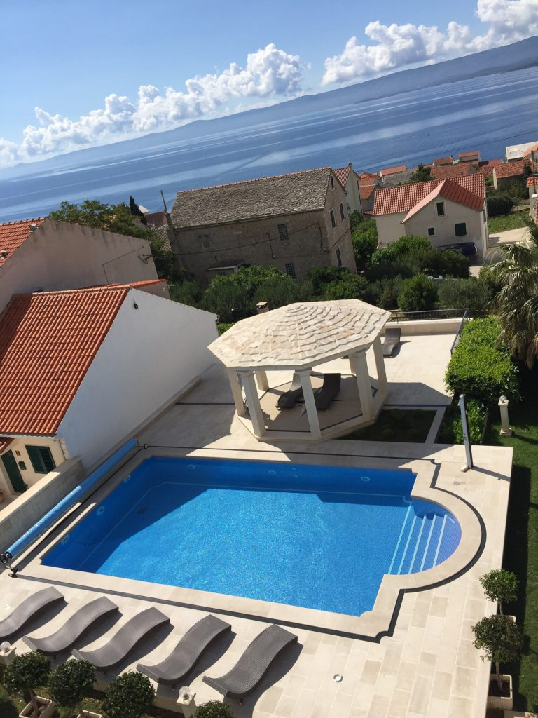 Villa Jadranka Bol apartments swimming pool